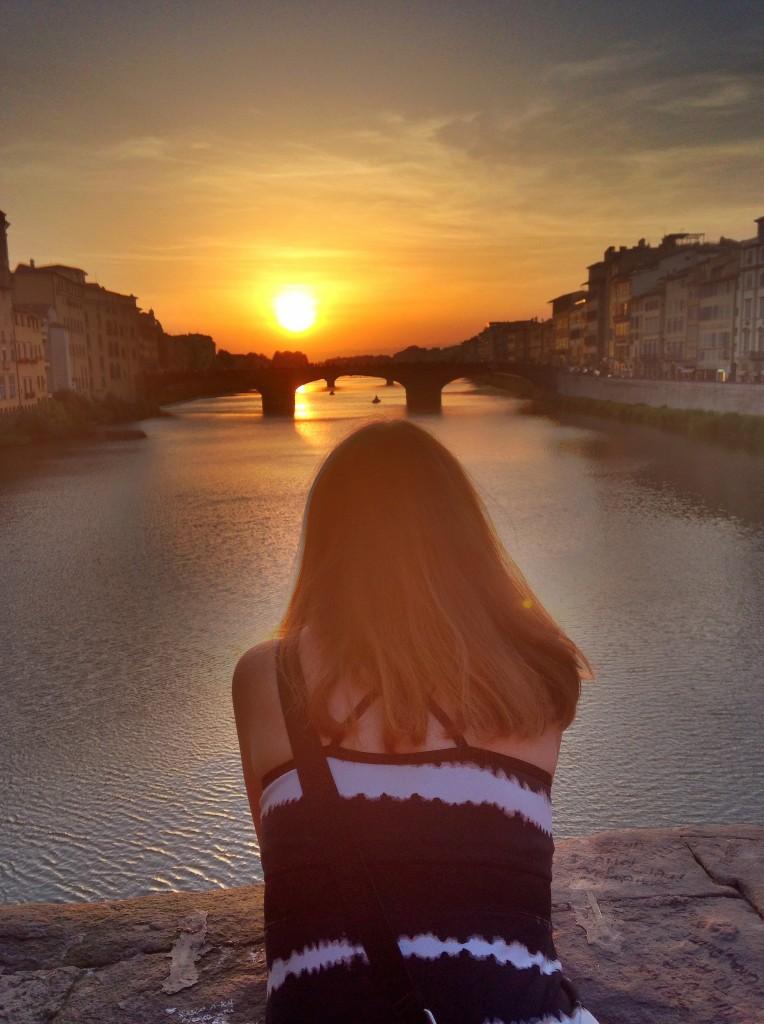 Sunset from Ponte Vecchio, Anthony Crider, Flikr
