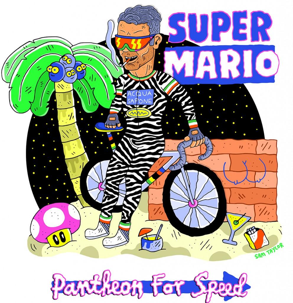 Mario Cipollini as Super Mario.   © Sam Taylor