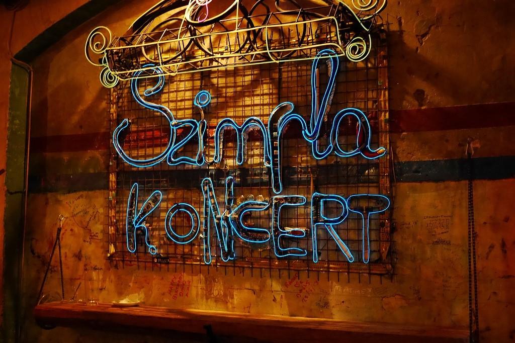 Szimpla ruin pub concert sign