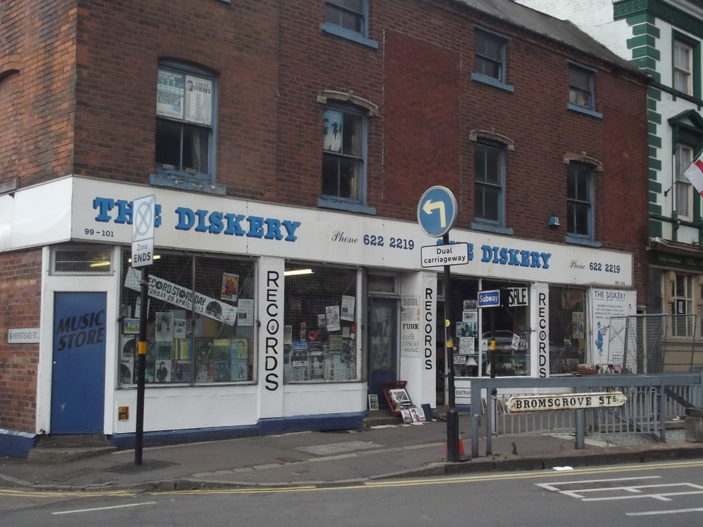 The Diskery record shop in Birmingham