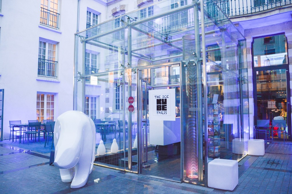 The entrance to the Kube Hotel Paris │ Courtesy of Kube Hotel Paris
