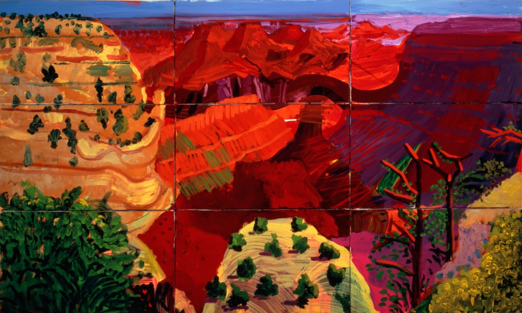"""9 Canvas study of the Grand Canyon"" 1998 © David Hockney. Photo Credit: Richard Schmidt"
