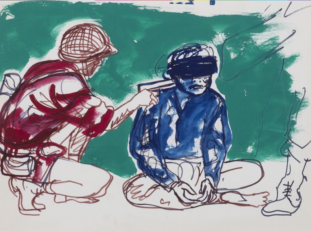 Ink and tempera on paper / Jose Antonio Berni / news.artjobs.com