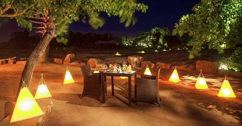 Private Dining at Ulagalla |©Courtesy of Uga Escapes