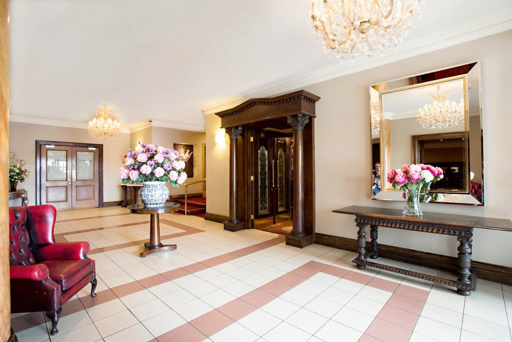 The lobby at The Victoria Hotel, Galway   Courtesy of The Victoria Hotel