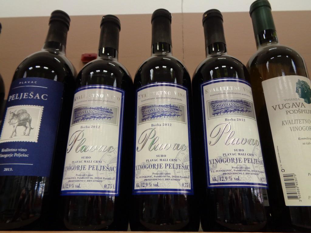 Plavac mali wine, dubrovnik