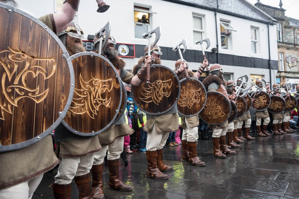 The Jarl Squad at the Market Cross, Lerwick for Up Helly-Aa 2017 | ©Austin Taylor / VisitScotland