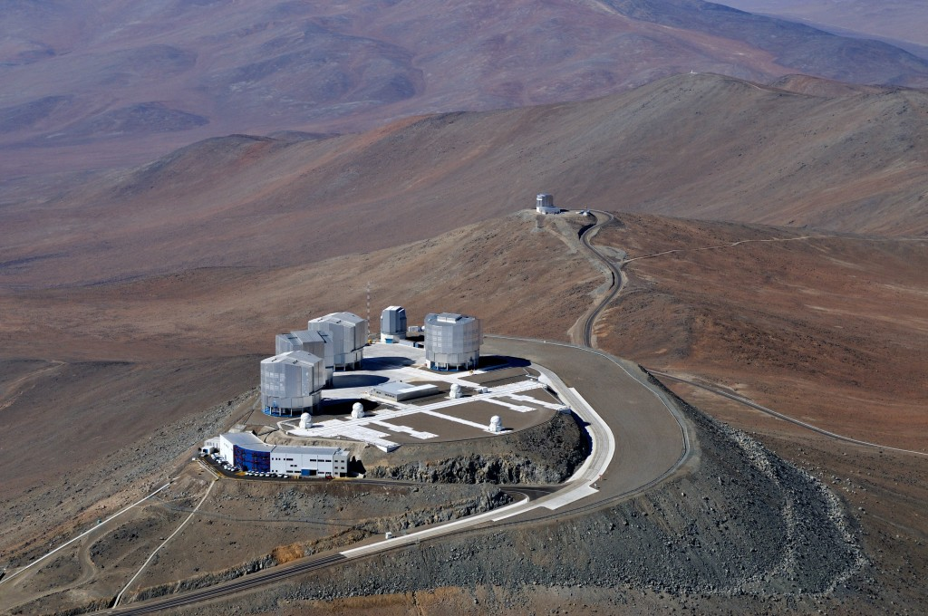 An aerial view of ESO's Very Large Telescope. | Courtesy ESO