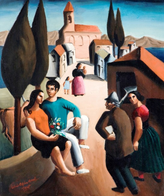 Village in Italy (1925) Christopher Wood 1901-1930 © National Museums Northern Ireland Collection Ulster Museum