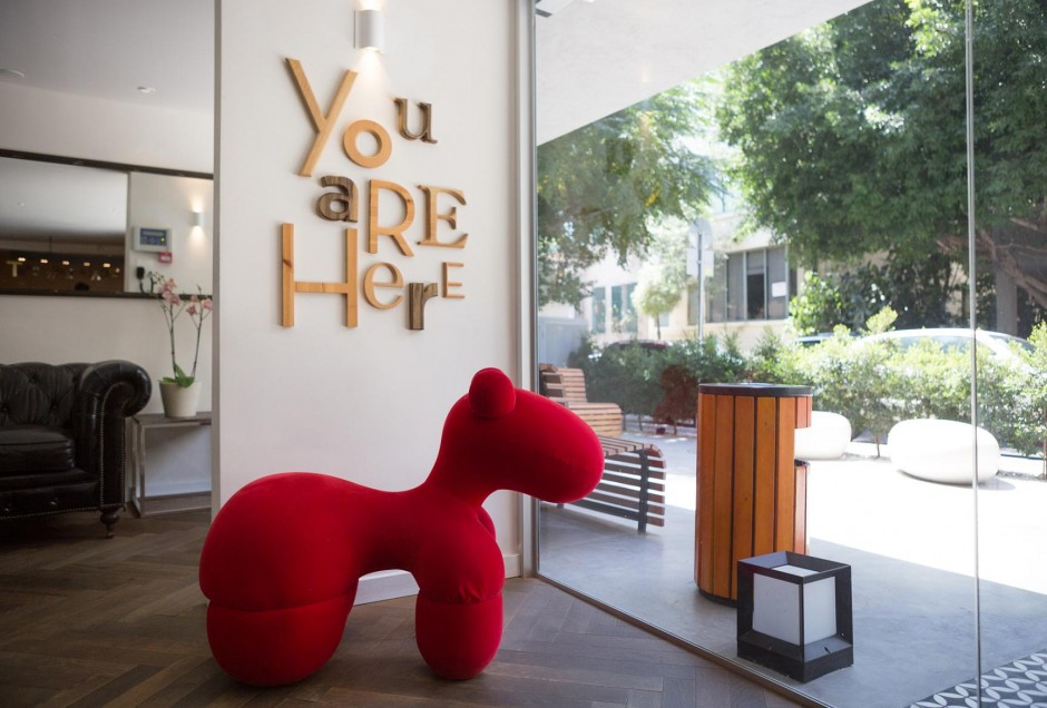 Funky furnitre at Tel Aviv's Shenkin Hotel