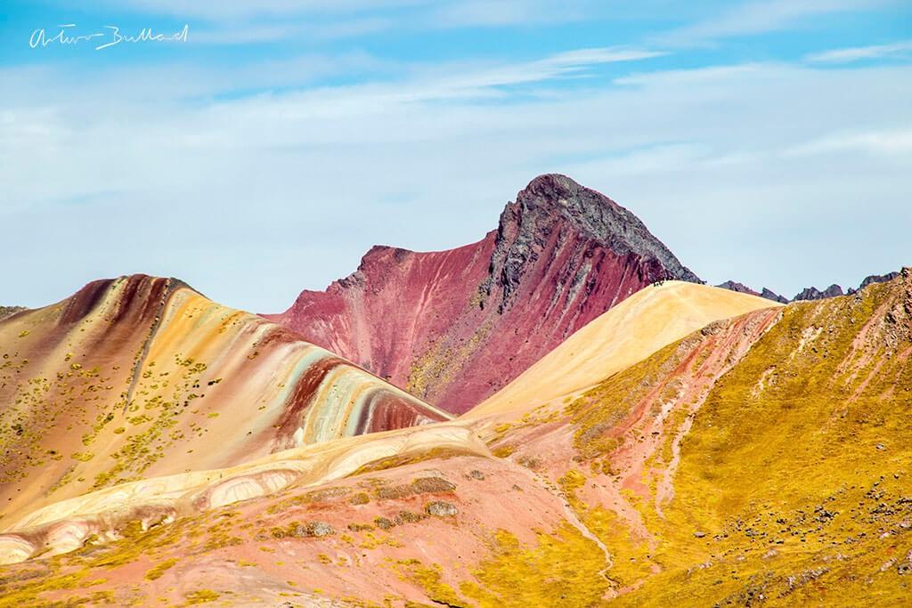 Rainbow Mountain seen from afar.  ©Courtesy of Arturo Bullard