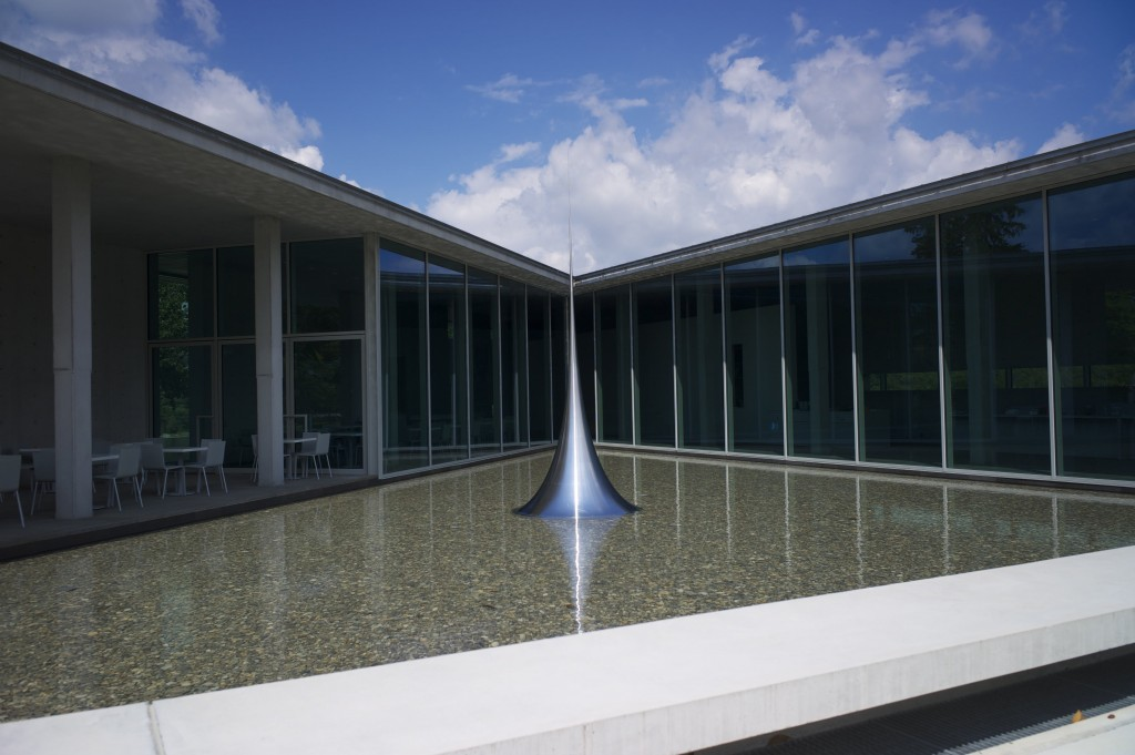 The sumptuous Tadao Ando restaurant overlooks the infinity pool and stunning architecture  ©