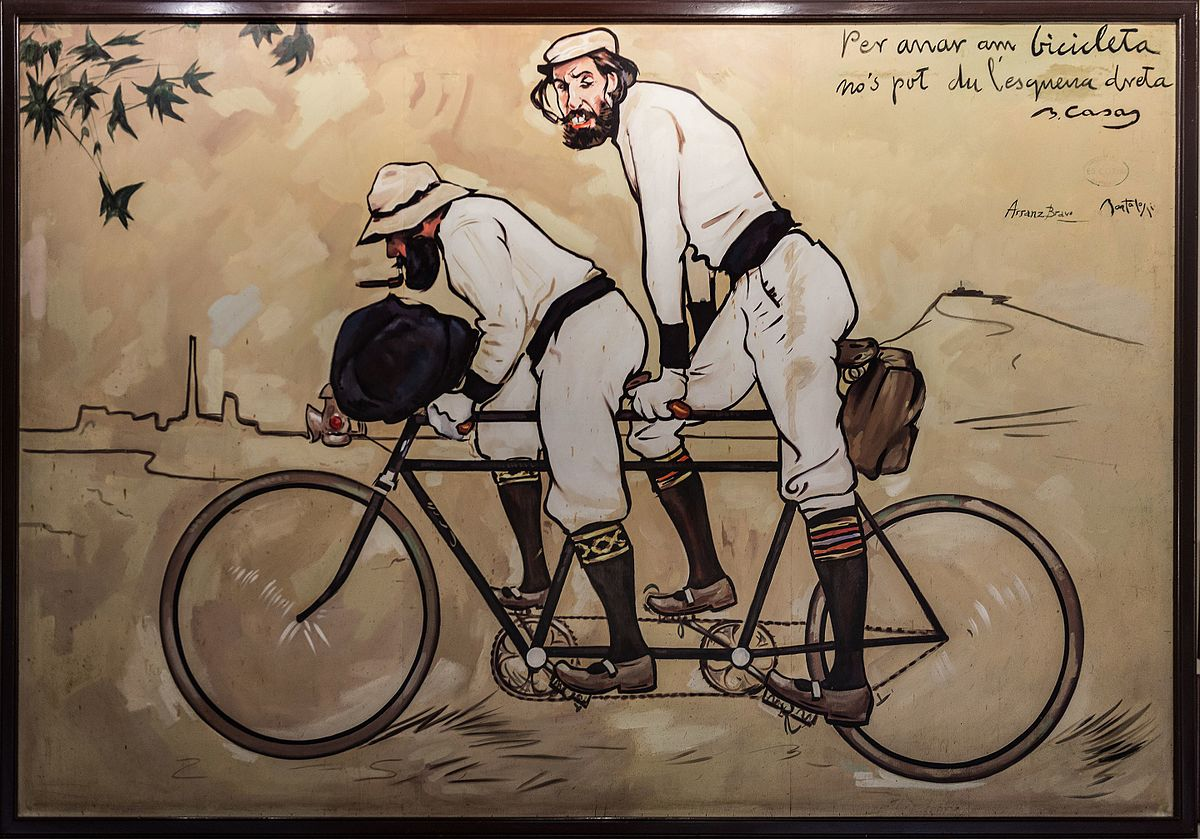 Ramon Casas and Pere Romeu on a Tandem CC0 Public Domain