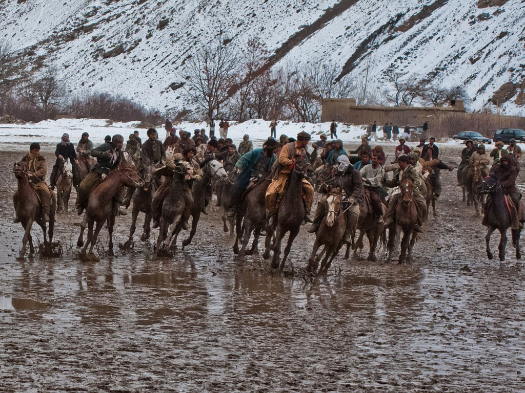 Buzkashi game in Bamyan Province, central Afghanistan. | © (5458890874)