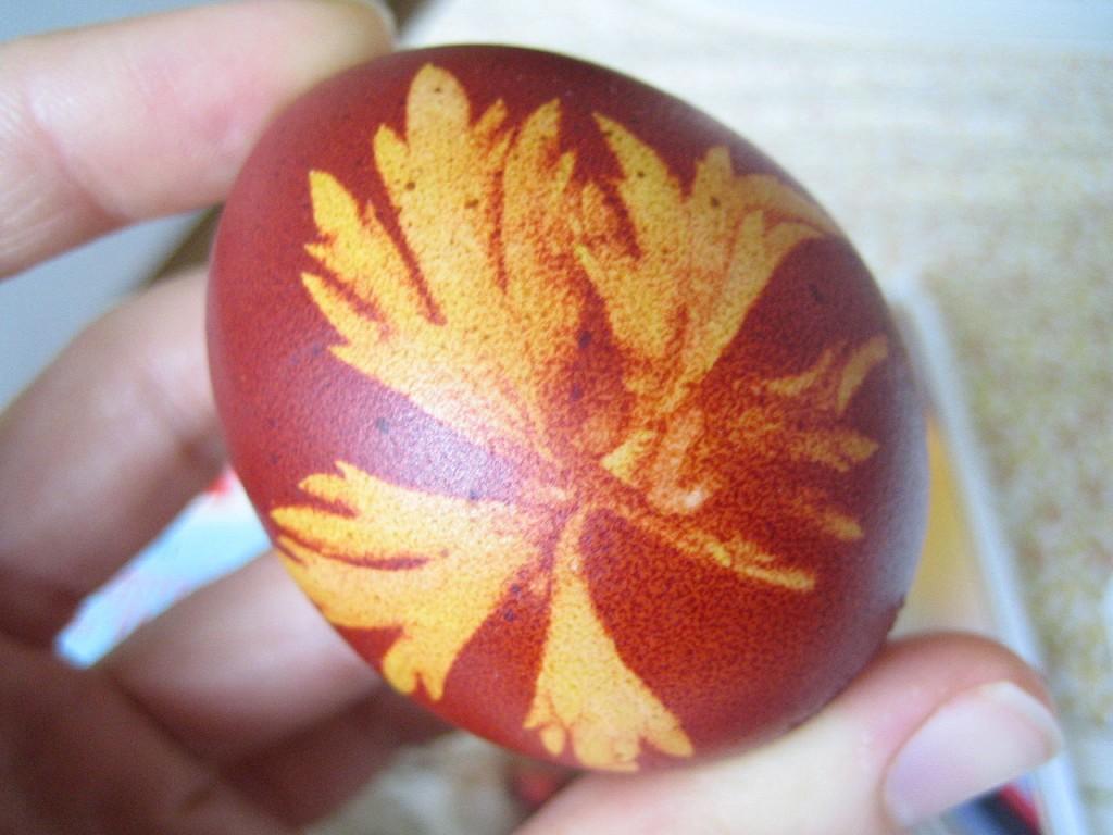 Slovenian leaf-decorated egg | Slo-Silvija/WikiCommons