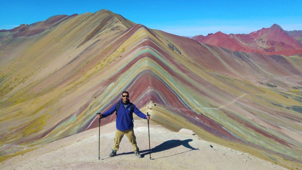 Peak of the Rainbow Mountain ©Courtesy of One Earth Peru