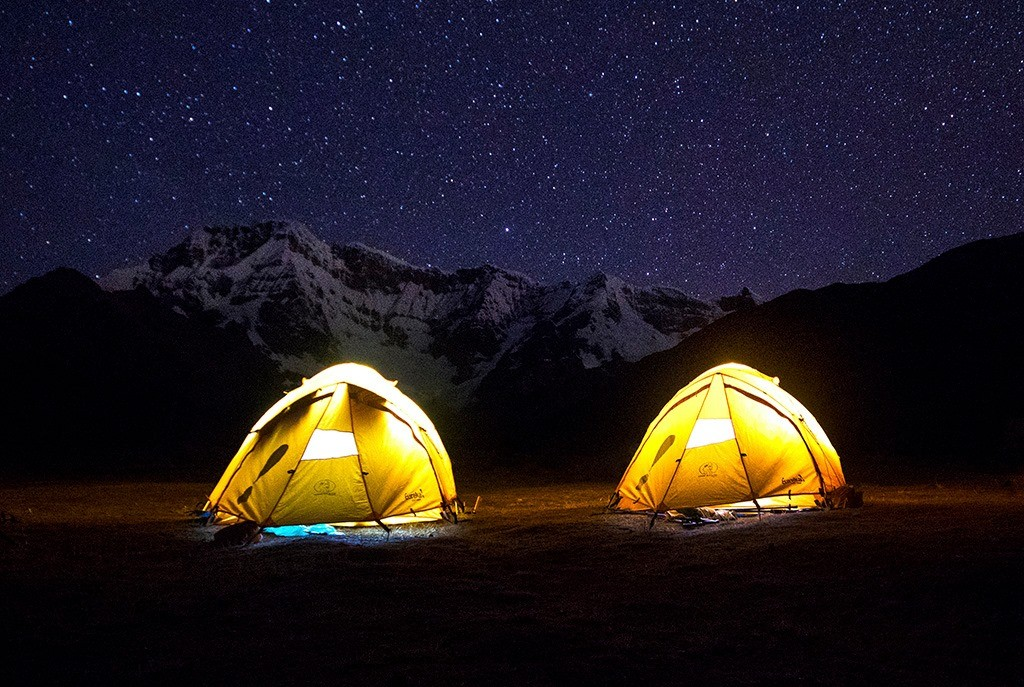 Nights in the Ausangate trail can be freezing cold, sometimes reaching 0 degrees. ©Courtesy of One Earth Peru