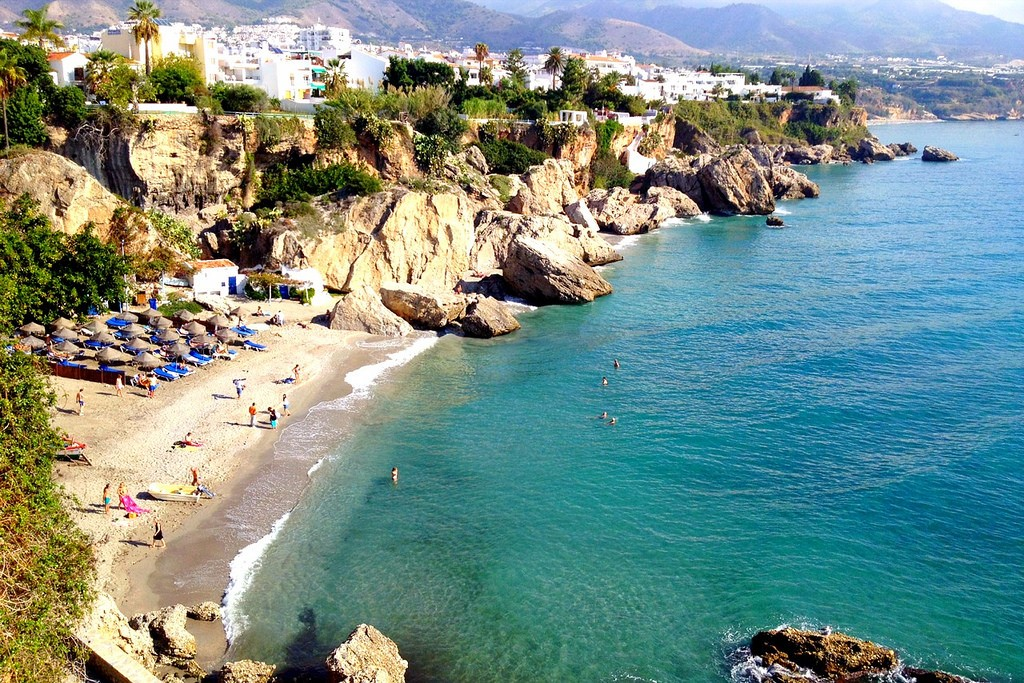 Nerja is the ideal beach getaway from Malaga; Nick Kenrick, flickr