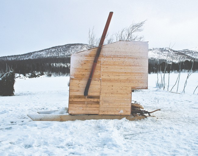 Nomad Sauna, Marco Casagrande, Norway, 2012. Timber, metal. Picture credit: Casagrande & Bjørnådal