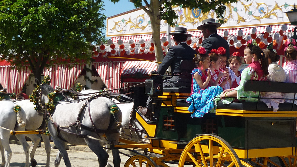 Refined celebrations at Seville´s April fair; Virginia Monita, flickr