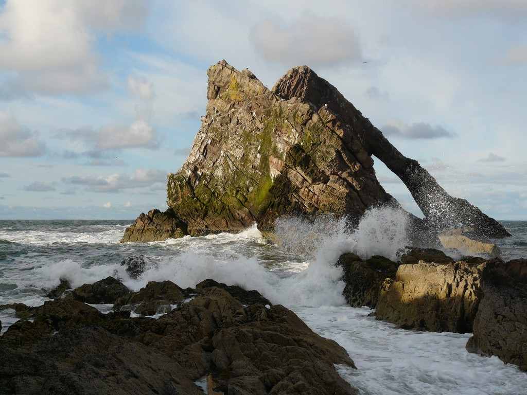 Bow Fiddle Rock, Moray Firth | © Deborah Main/Flickr