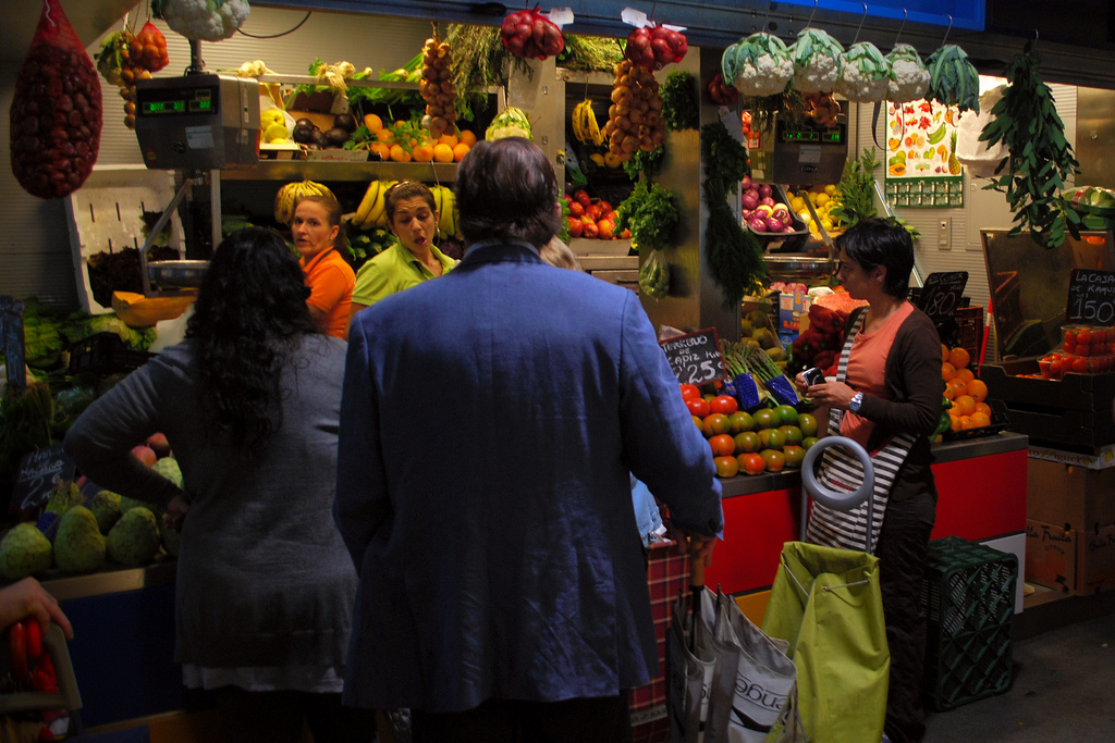 Malaga´s food market´s are colourful chaotic affairs; Aapo Haapanen, flickr