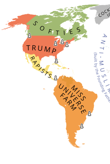 This Map Shows The World According To Donald Trump