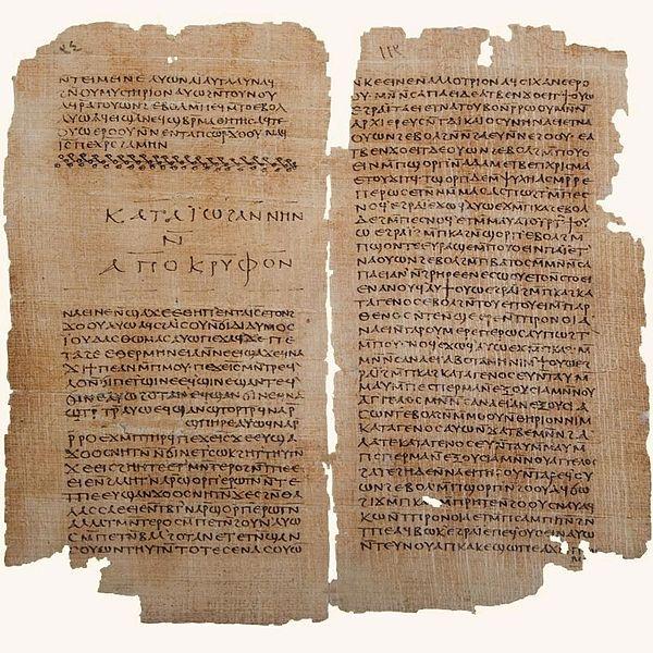 The Secret Book of John (Apocryphon of John), from a Nag Hammadi scroll | WikiCommons