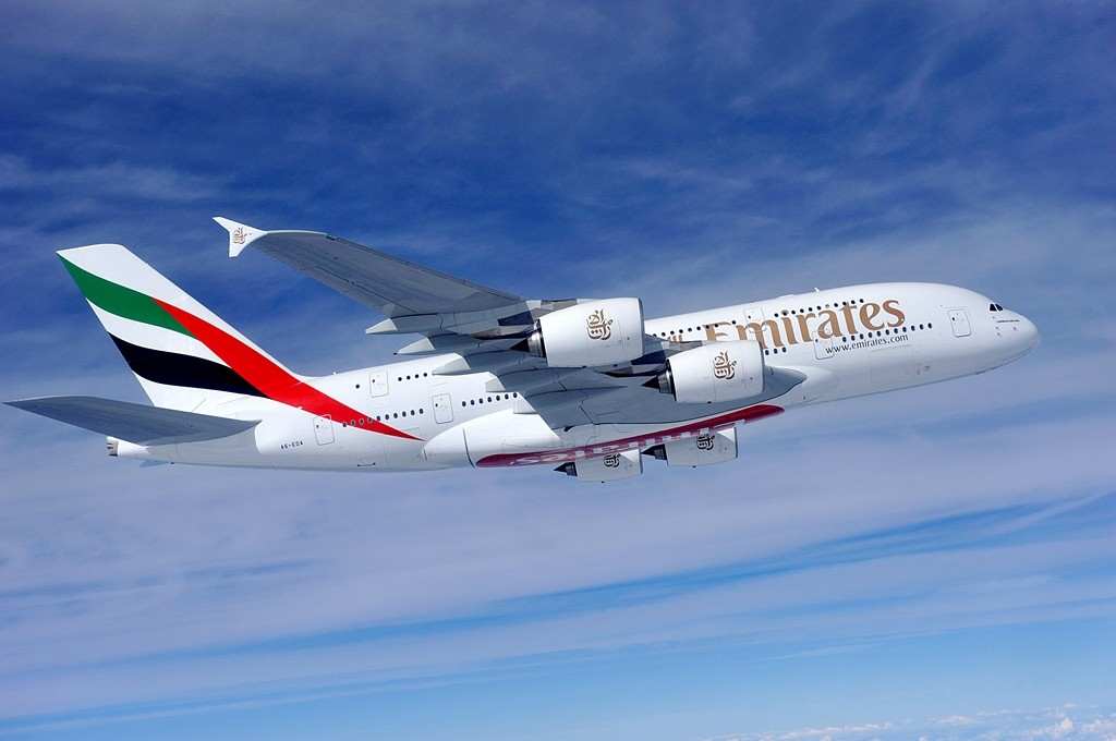 Emirates A380 airplane | © Roderick Eime / Flickr