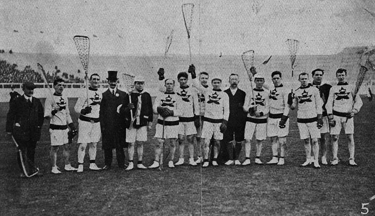 1908 Canadian Olympic Lacrosse Team | © Library and Archives Canada