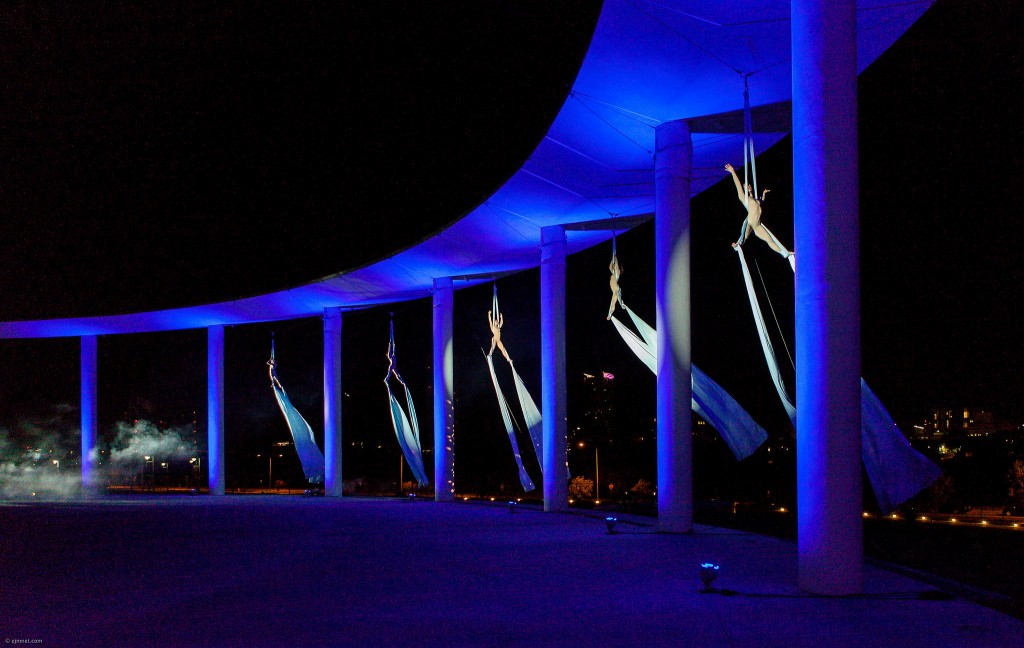 Aerial dancers at the Long Center © Earl McGehee