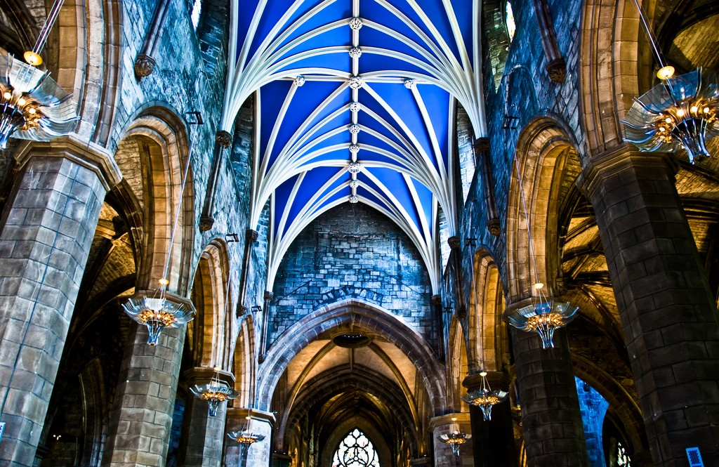 St. Giles Cathedral Vaulted Ceiling | © Gary Ullah/Flickr
