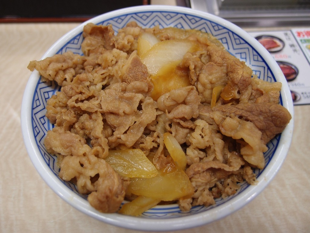 Gyudon, a type of donburi, from popular fast food chain Yoshinoya | © Guilhem Vellut/Flickr