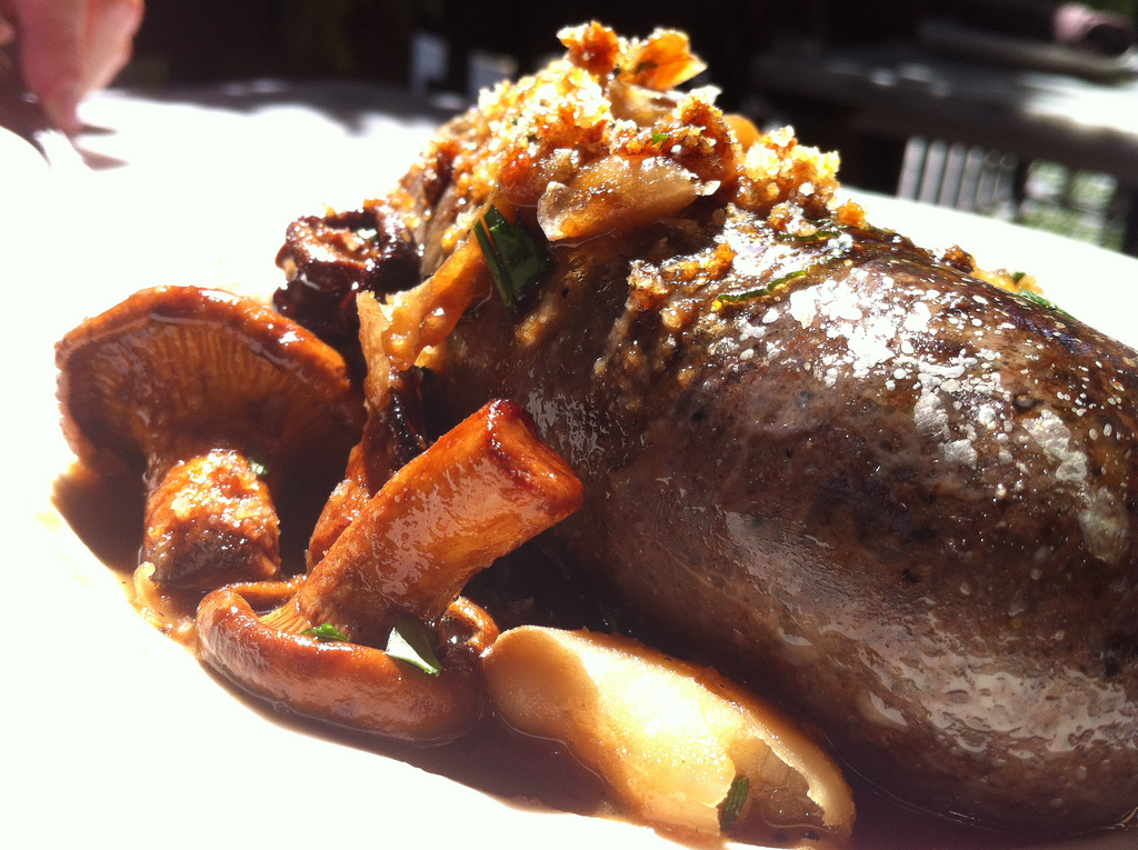 Morcilla sausage with chantarelles. Photo: Flickr/Jeremy Keith