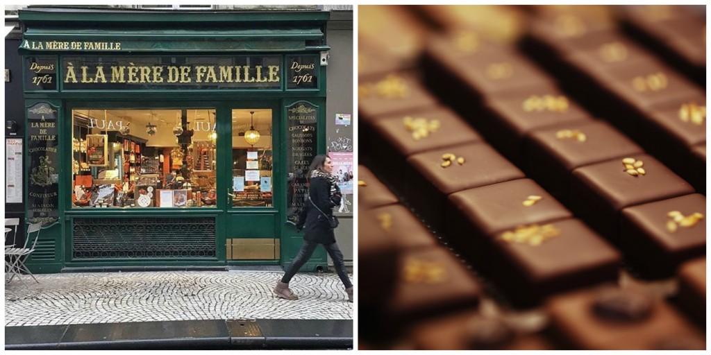 Left: A la Mère de Famille, Montorgueil │© Daphnouille Bob/Courtesy of A la Mère de Famille; Right: Chocolates │ Courtesy of A la Mère de Famille