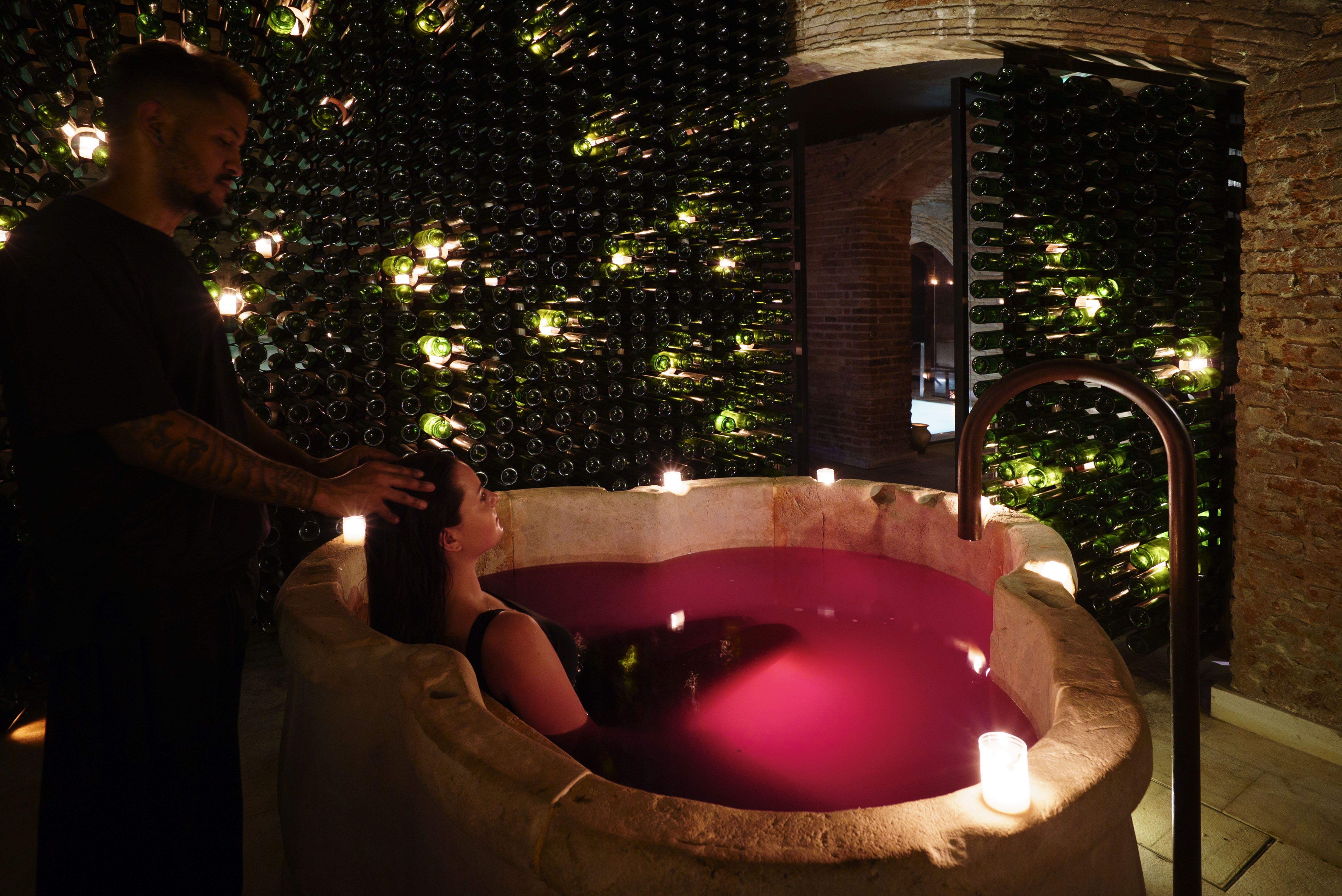 This Spa in Barcelona Lets You Bathe in Your Favourite Wine
