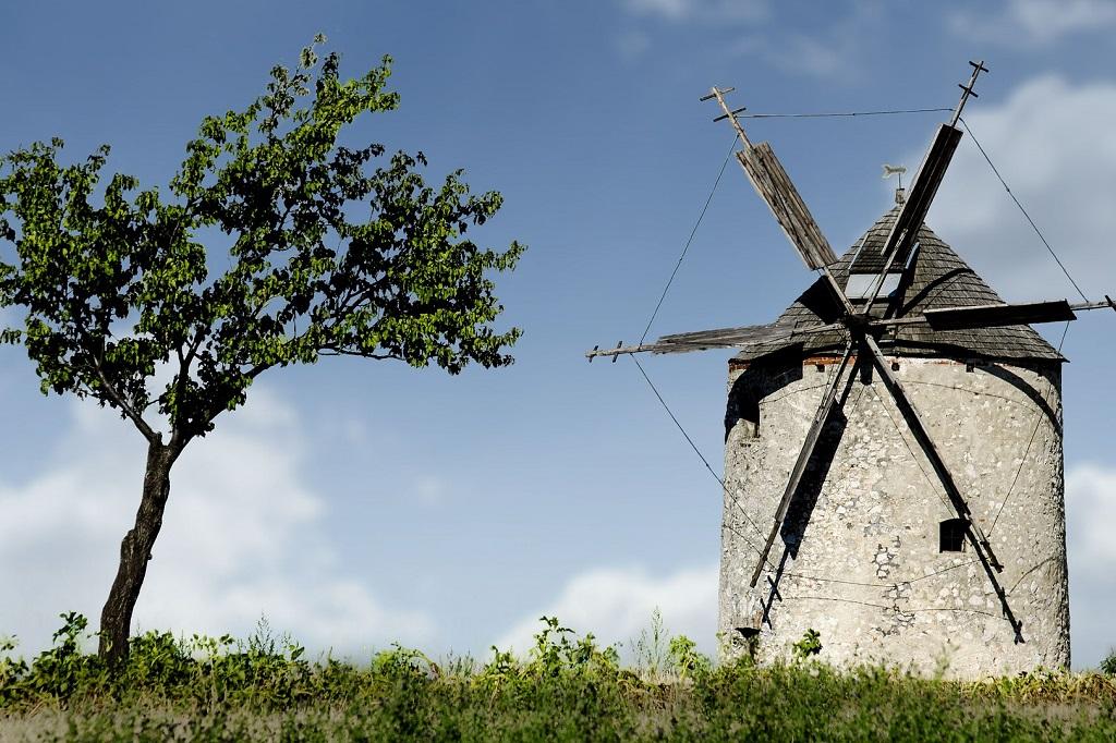 Bakony windmill Hungary