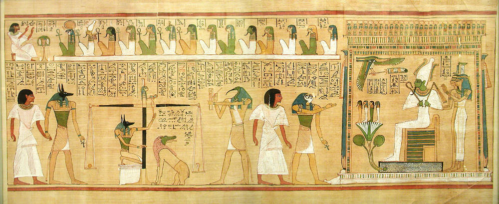 Tableau from the Book of the Dead featuring Thinis as a place in heaven