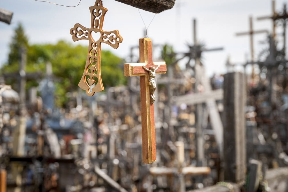 Detail at the Hill of Crosses | ©dinozzaver/Shutterstock