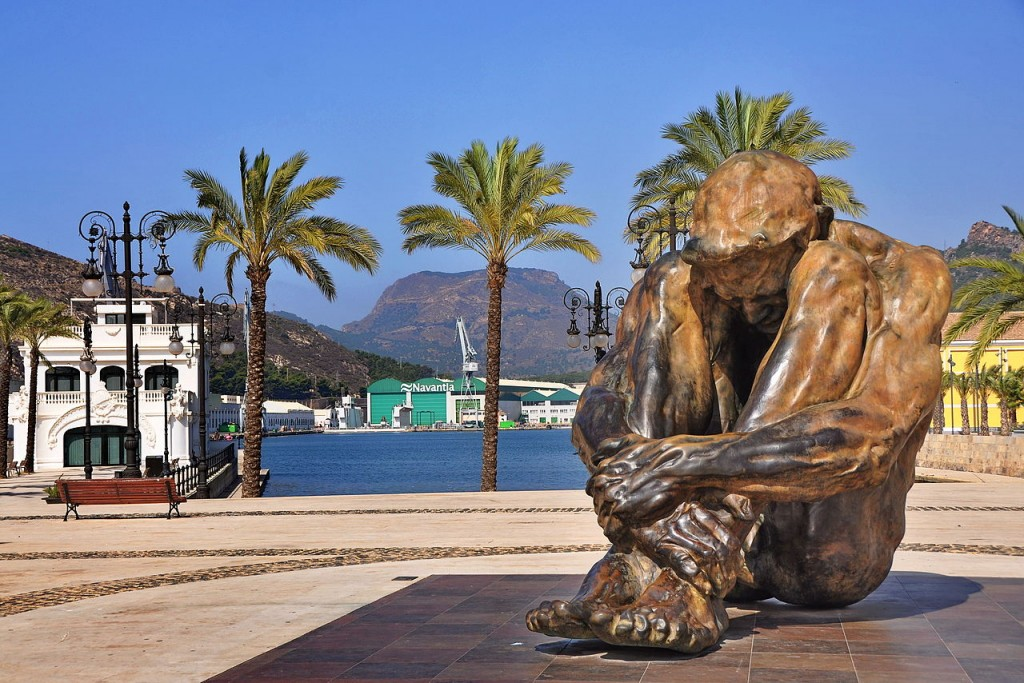 El Zulo, one of the statues at the port of Cartagena, Spain. Photo © Flickr/Enrique Freire