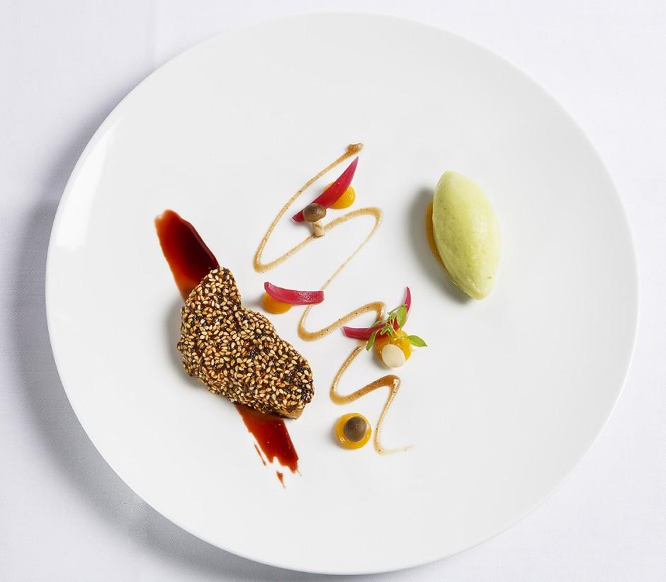 Exquisite dish at the Saint James Paris│ Courtesy of Saint James Paris – Relais & Chateaux