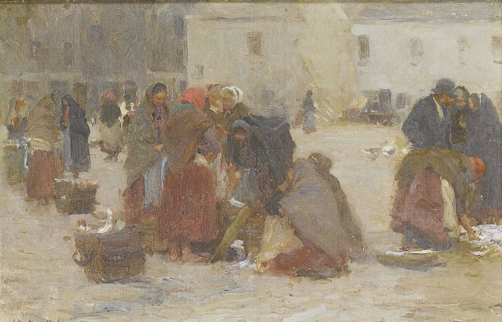 Fish Market, Galway by Walter Osborne | © Sotheby's, London/WikiCommons