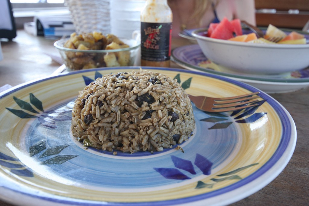 Gallo pinto is a must-eat for breakfast