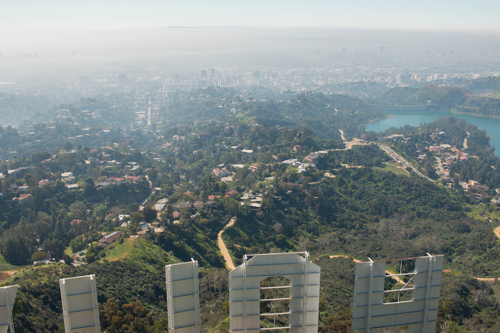 From behind the Hollywood sign|©LWYang/Flickr