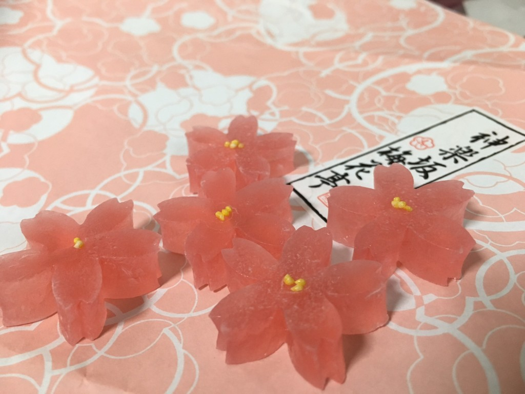 Delicate sakura wagashi | © Alicia Joy