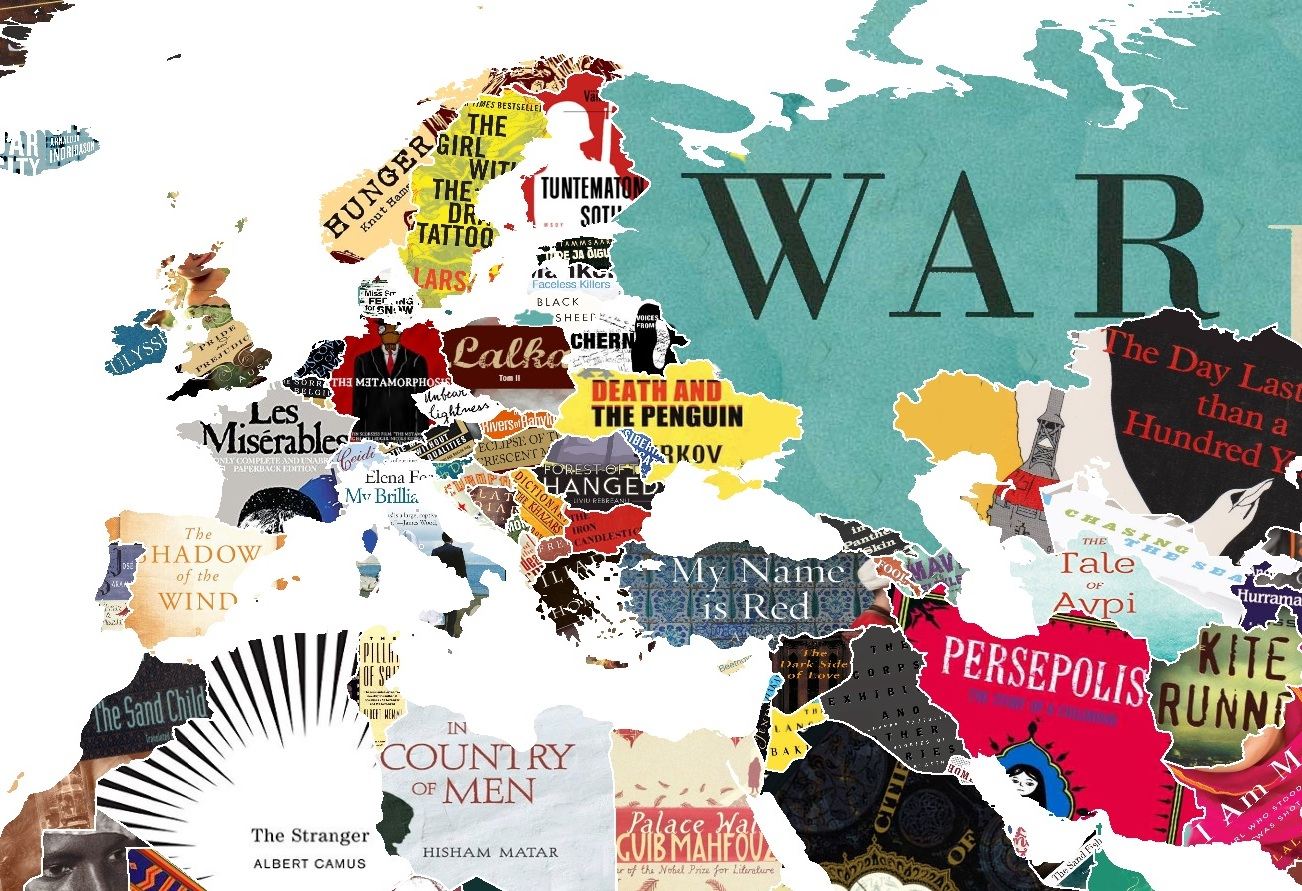 this literature map of the world shows you every country s favourite book
