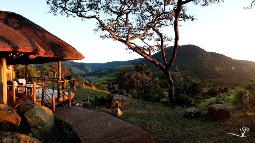 The eco design incorporates natural materials, with thatch and living roofs, which invite game to graze as you relax | Courtesy of Karkloof Spa