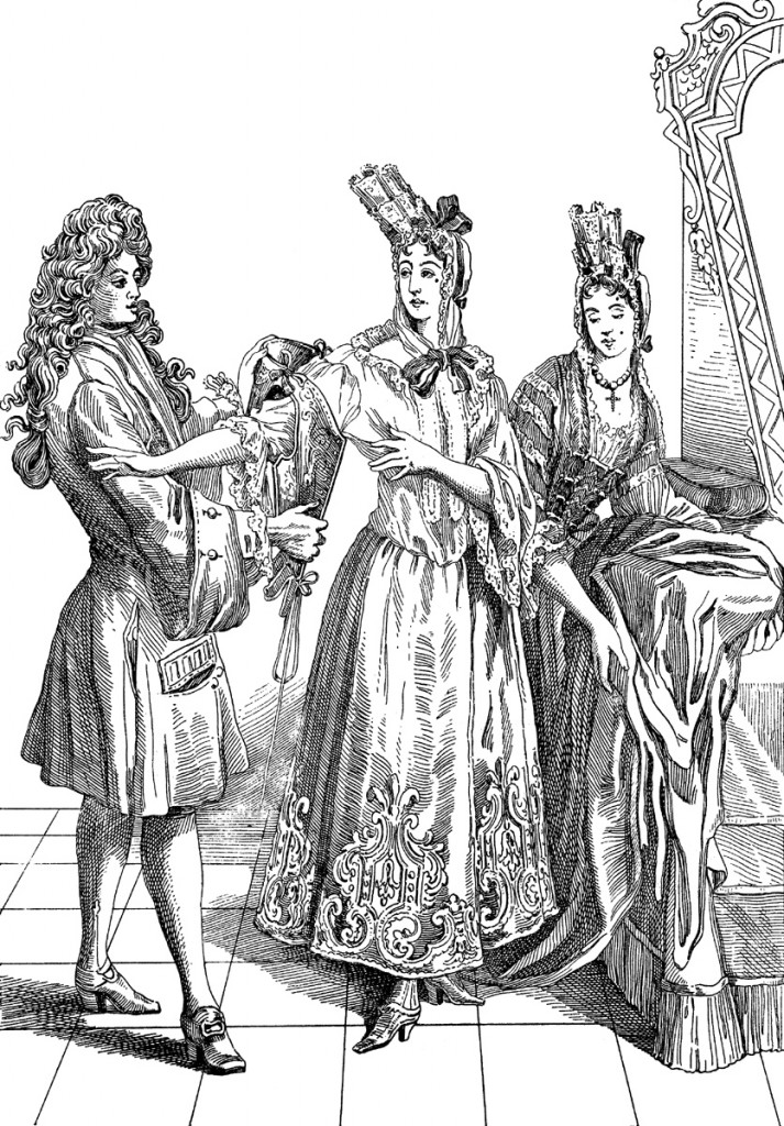 At the court of Louis XIV, you wouldn't fit in without a wig or a fondange | © WikiCommons