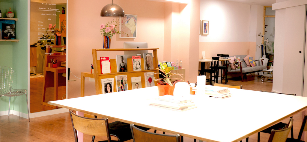 The main area of CocoCoffice Courtesy of CocoCoffice