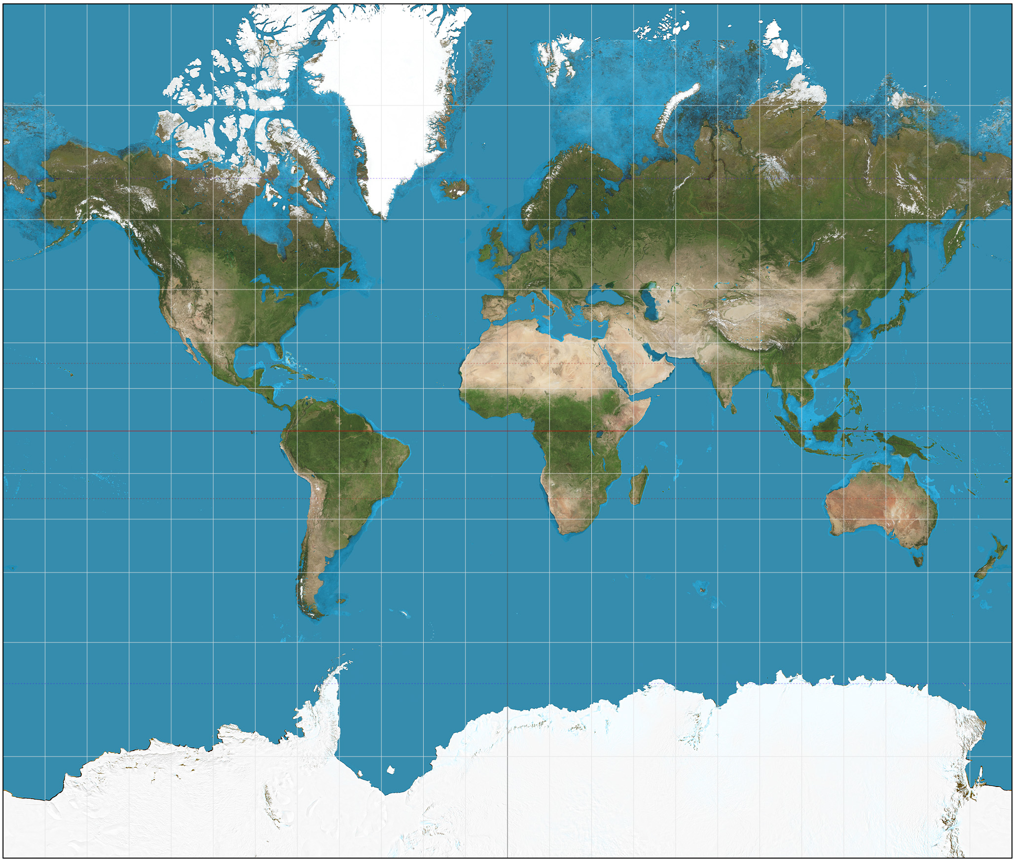 The Mercator Projection of the World | © Strebe / Wikimedia Commons